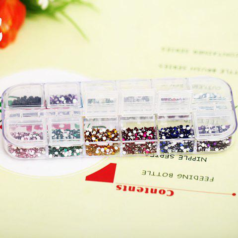 Chic Stylish 12 Colors Glitter Nail Art Tips with Plastic Box Round Paillette Decoration -   Mobile