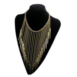 Punk Fringed Rivet Pendant Necklace - COLOR ASSORTED