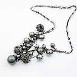 Ball Shape Beads Pendant Necklace -