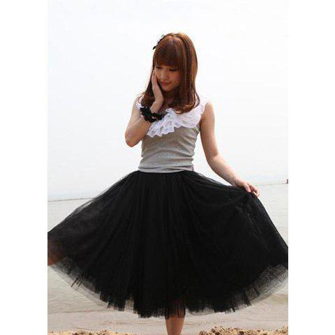 Discount New Women Fashion Princess Fairy Style 5 layers Tulle Dress Bouffant Skirt 4 Colors