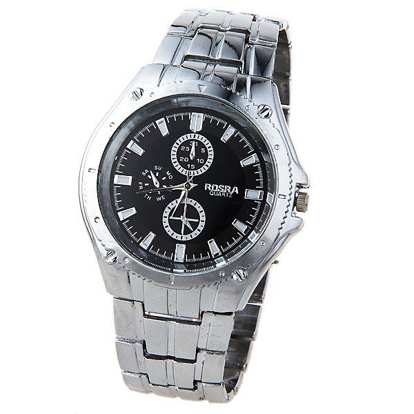 2019 rosra quartz watch with strips indicate steel watch band for men silver for Rosra watches