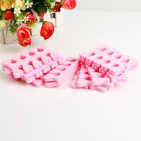 Discount 20PCS Soft Sponge Toe Separator Finger Spacer for Manicure Pedicure Nail Tool - Pink - PINK  Mobile