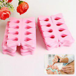 20PCS Soft Sponge Toe Separator Finger Spacer for Manicure Pedicure Nail Tool - Pink