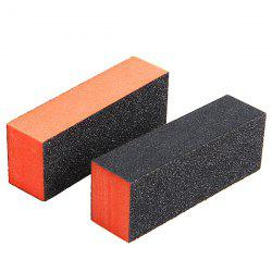 2PCS Professional Rectangle Nail Art Sanding Polishing Buffer Block Grinding Tool
