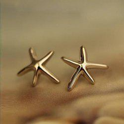 Pair of Starfish Shape Women's Earrings