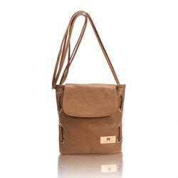 Casual PU Leather Small Size and Bucket Pattern Design Women's Cross-Body Bag - BROWN