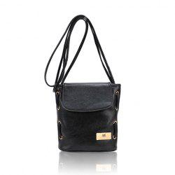 Casual PU Leather Small Size and Bucket Pattern Design Women's Cross-Body Bag -