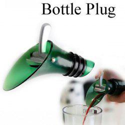 Red Wine Aerator Bottle Plug Cap Pourer Silicone Shutoff Seal Stopper - Green
