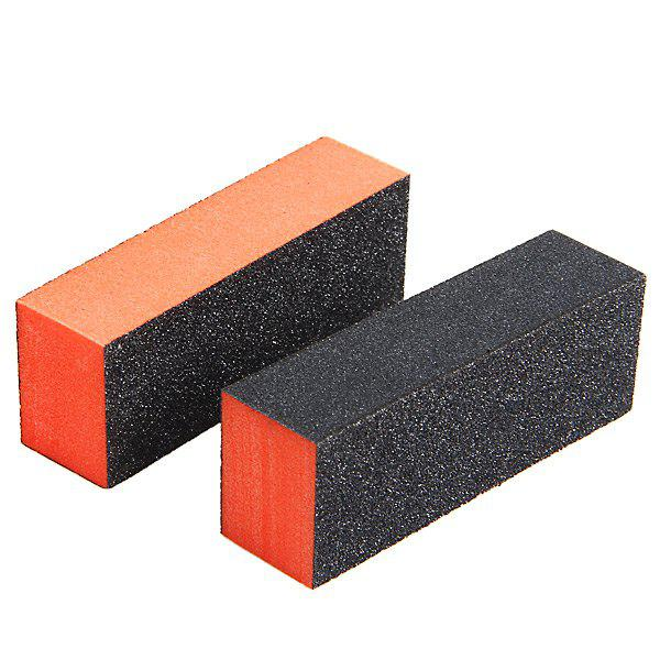 2PCS Professional Rectangle Nail Art Sanding Polishing Buffer Block Grinding ToolBEAUTY<br><br>
