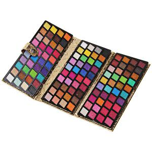 120 Vivid Charming Colors Eyeshadow with Gold Leather Clutch Bag Shaped Case Professional Makeup Kit Cosmetic Set -