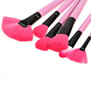 Fashion 24PCS Pink Soft Nylon Hair Make-up Brushes with Leather Bag -