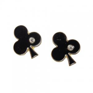 Rhinestone Playing Card Shape Earrings -