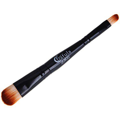 Best Fafula Professional Makeup Tool Double-ended Contour Define Eye Shadow Brush - Black