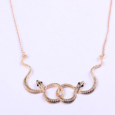 Online Vintage Snake Embellished Pendant Women's Necklace AS THE PICTURE