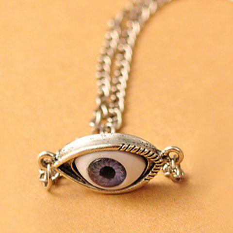 Outfits Punk Eye-Shaped Pendant Women/Men's Necklace - COLOR ASSORTED  Mobile