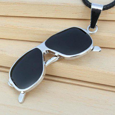 New Eyeglass Shape Pendant Necklace AS THE PICTURE