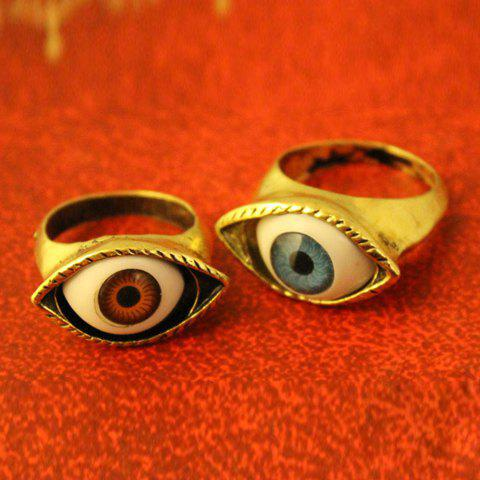 Vintage Eye Shaped Decorated Ring - COLOR ASSORTED ONE SIZE