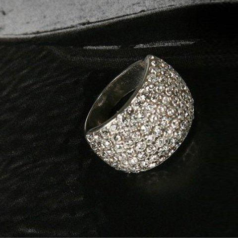 Affordable Fashion Rhinestone Decorated Women's Ring