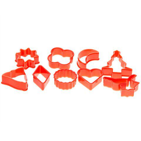 New 10PCS Plastic Cake Cookie Model with Different Shapes - RED  Mobile