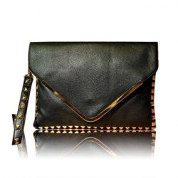 Party PU Leather Punk Style Studs Design Women's Clutch -