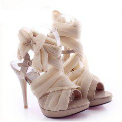 Party Silk and Stiletto Heel Design Women's Summer Sandals -