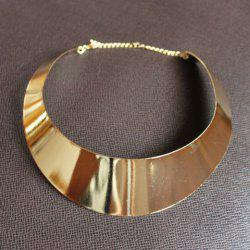 Punk Exaggerated Style Crescent Shape Shining Women's Necklace -