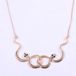 Vintage Snake Embellished Pendant Women's Necklace