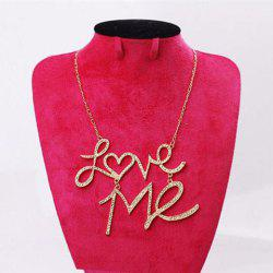 Fashion Rhinestoned Love-Me Pendant Women's Necklace -
