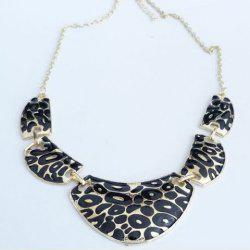 Vintage Leopard Pattern Pendant Necklace -