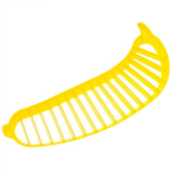 Outfits Creative Plastic Bananas Slicer Cutter - Yellow