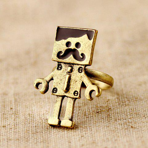 Sale Vintage Mustache Robot-Shaped Decorated Women's Ring
