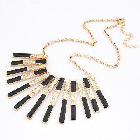 Hot Hot Sale Style Colored Glaze Oblong Shape Pendant Embellished Women's Necklace