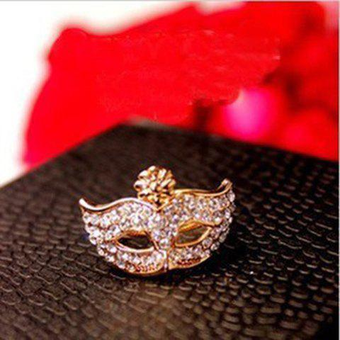 Store Rhinestone Mask Shape Ring - ONE SIZE COLOR ASSORTED Mobile