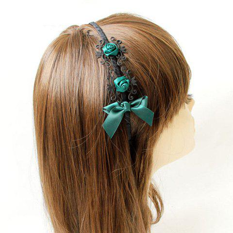 Shops Fashionable Style Handmade Flower and Bowknot Embellished Hair Band For Women