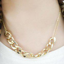Punk Style Alloy Chain Embellished Necklace For Women -