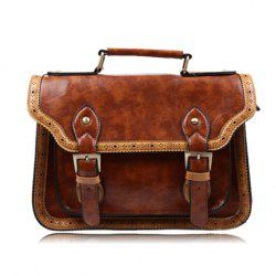 Casual Color Matching and Buckle Design Women's Tote Bag -