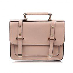 Casual Pure Color and Rivets Design Women's Tote Bag -