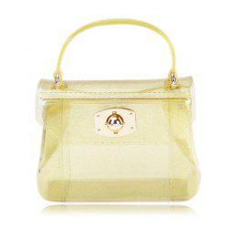 Cute Style Casual Candy Color and Twist-Lock Closure Design Women's Tote Bag -
