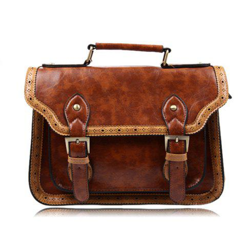Fashion Casual Color Matching and Buckle Design Women's Tote Bag