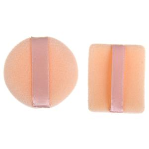 2PCS Super Soft Powder Puff Sponge for Face Facial Foundation Makeup Cosmetic -
