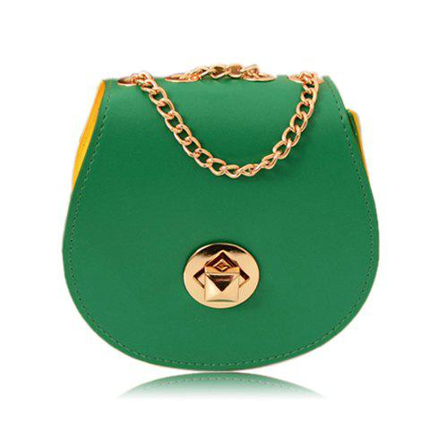 New Casual Candy Color Round Shape and Metal Chain Design Women's Shoulder Bag