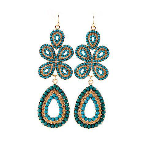 Hot Delicate Bohemian Style Solid Color Women's Flower Shape Drop Earrings