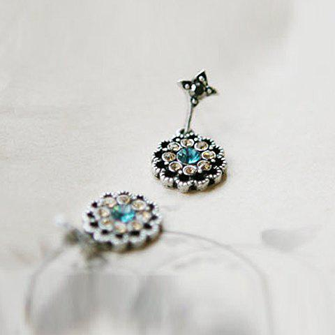 Affordable Alloy Rhinestone Embellished Waterdrop Shape Earrings