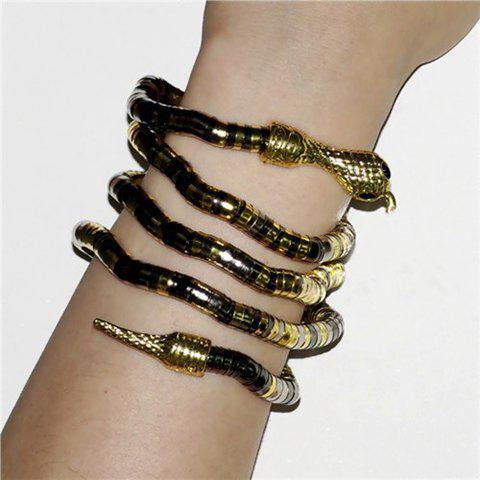 Fancy Characteristic Twining Snake Shaped Women's Alloy Bracelet