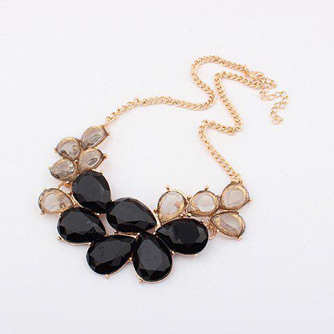 Latest Elegant Rhinestone and Acrylic Embellished Women's Waterdrop Necklace