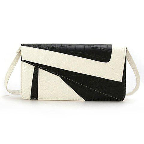 Fashion Casual Snake Veins and Splice Design Women's Clutch