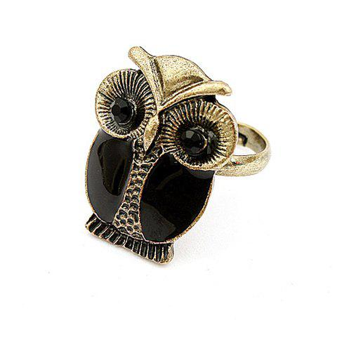 Unique Sweet Night Owl Shape Embellished Women's Alloy Ring