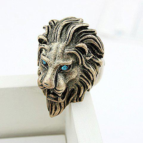 Outfit Cool Rhinestone Lion Shaped Finger Ring
