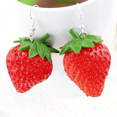 Latest Pair of Ethnic Strawberry Shape Earrings AS THE PICTURE