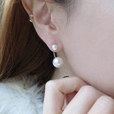 Buy Pair of Faux Pearl Alloy Earrings - COLOR ASSORTED  Mobile
